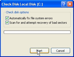 checkdisk hard drive errors