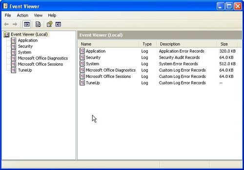 Using Event Viewer