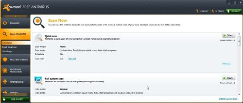 avast antivirus configure virus protection settings